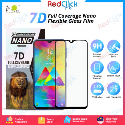 iTOP Samsung Galaxy M20 7D Full Coverage Screen Protector Nano Flexible Glass Film - Shock Proof