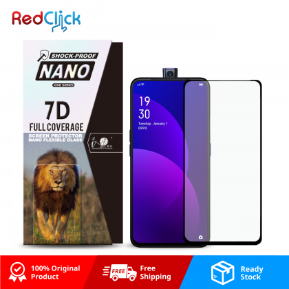 iTOP OPPO F11 Pro 7D Full Coverage Screen Protector Nano Flexible Glass Film - Shock Proof