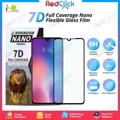 iTOP Xiaomi Mi 9 7D Full Coverage Screen Protector Nano Flexible Glass Film - Shock Proof