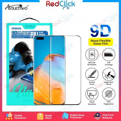 Atouchbo Huawei P30 Pro /P40 Pro /P40 Pro Plus 9D Full Glue Full Coverage Curved Screen Protector Nano Flexible Glass Film - Shock Proof