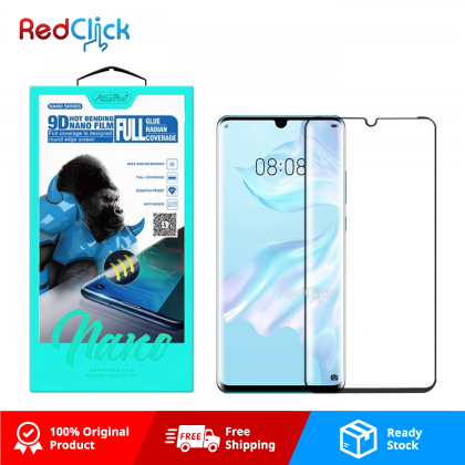 Atouchbo Huawei P30 Pro 9D Full Glue Full Coverage Curved Screen Protector Nano Flexible Glass Film - Shock Proof