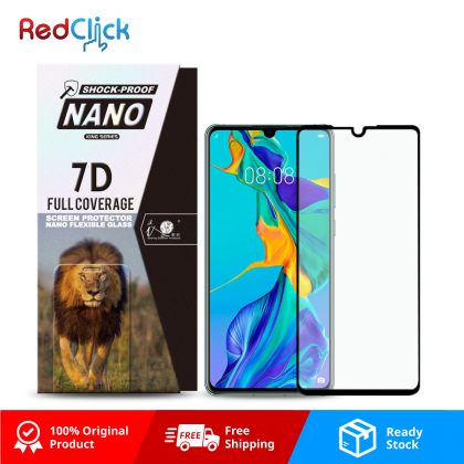 iTOP Huawei P30 7D Full Coverage Screen Protector Nano Flexible Glass Film - Shock Proof