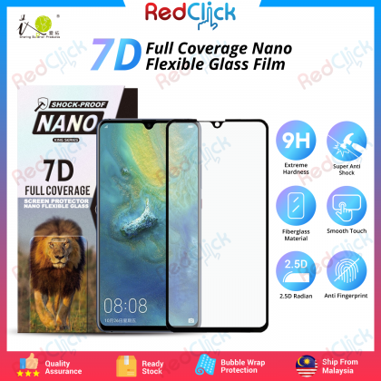iTOP Huawei Mate 20 X 7D Full Coverage Screen Protector Nano Flexible Glass Film - Shock Proof