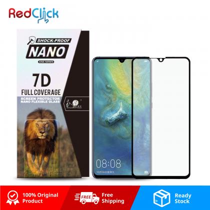 iTOP Huawei Mate 20 X 7D Full Coverage Screen Protector Nano Flexible Glass Film - Shock Proof