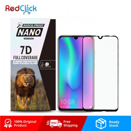 iTOP Honor 10 Lite 7D Full Coverage Screen Protector Nano Flexible Glass Film - Shock Proof