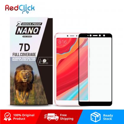 iTOP Xiaomi Redmi S2 7D Full Coverage Screen Protector Nano Flexible Glass Film - Shock Proof