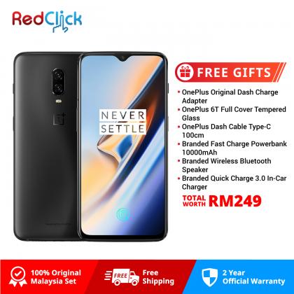 OnePlus 6T (8GB/256GB) Original OnePlus Malaysia Warranty + 6 Free Gift Worth RM249