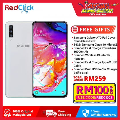 Samsung Galaxy A70 (8GB/128GB) Original Samsung Malaysia Set + 6 Free Gift Worth RM259