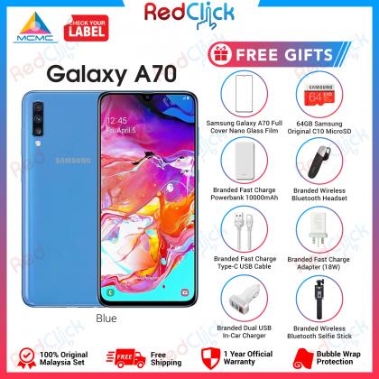 Samsung Galaxy A70 (8GB/128GB) Original Samsung Malaysia Set + 6 Free Gift Worth RM199