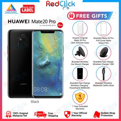 Huawei Mate 20 Pro (6GB/128GB) Original Huawei Malaysia Set + 7 Free Gift Worth RM499
