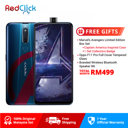 OPPO F11 Pro Marvel's Avengers Edition /cph1969 (6GB/128GB) Original OPPO Malaysia Set + 3 Free Gift Worth RM499