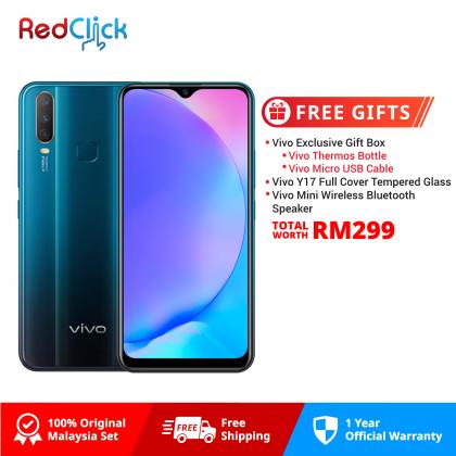 VIVO Y17 /1902 (4GB/64GB) Original VIVO Malaysia Set + 3 Free Gift Worth RM299