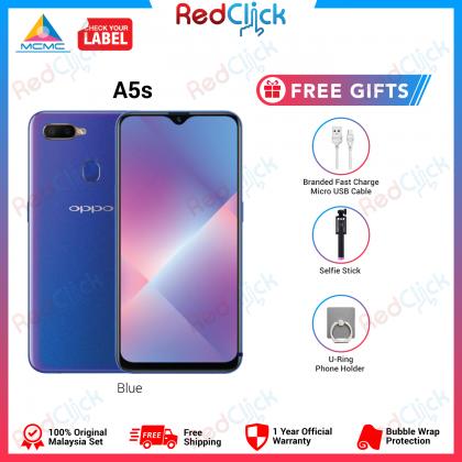OPPO A5s / CPH1909 (3GB/32GB) Original Malaysia OPPO Set + 3 Free Gift Worth RM49