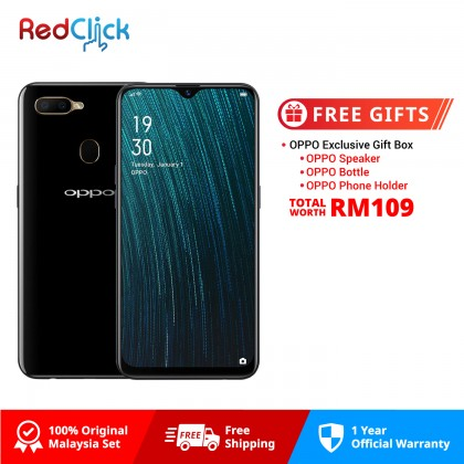 OPPO A5s / CPH1909 (3GB/32GB) Original Malaysia OPPO Set + Free Gift Worth RM109
