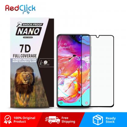 iTOP Samsung Galaxy A70 7D Full Coverage Screen Protector Nano Flexible Glass Film - Shock Proof