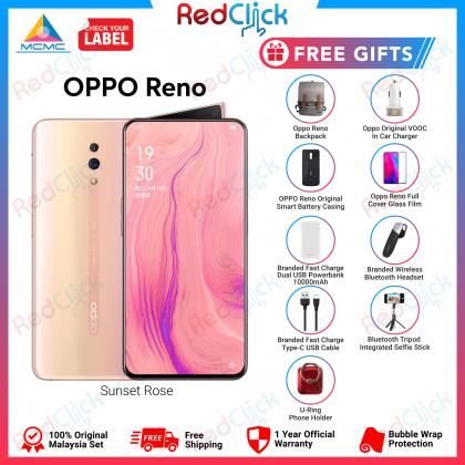 OPPO Reno (6GB/256GB) Original OPPO Malaysia Set + 9 Free Gift Worth RM559