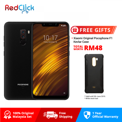 Xiaomi Pocophone F1 /Amored Edition (6GB/128GB) Original Xiaomi Malaysia Set + Free Gift Worth RM48