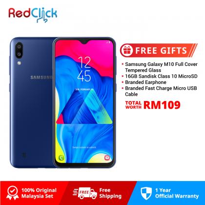 Samsung Galaxy M10 (2GB/16GB) Original Samsung Malaysia Set + 4 Free Gift Worth RM109