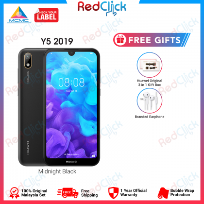 Huawei Y5 2019 /AMN-LX2 (2GB+32GB) Original Huawei Malaysia Set + 2 Free Gift Worth RM149