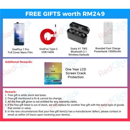 OnePlus 7 Pro (12GB/256GB) Original Oneplus Malaysia Set + 5 Free Gift Worth RM249