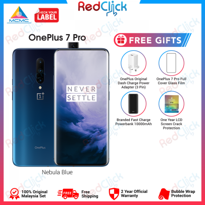 OnePlus 7 Pro (12GB/256GB) Original Oneplus Malaysia Set + 4 Free Gift Worth RM399