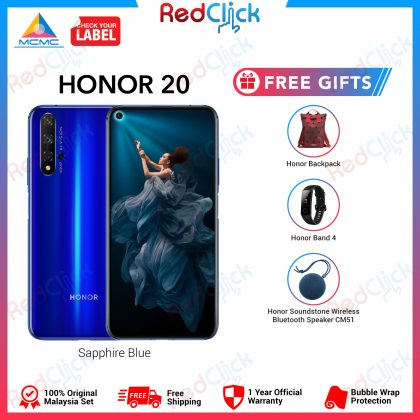 Honor 20 (6GB/128GB) Original Honor Malaysia Set + 3 Free Gift Worth RM500