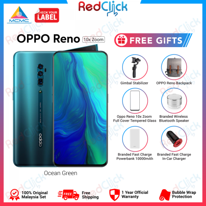 OPPO Reno 10x Zoom (8GB/256GB) Original OPPO Malaysia Set + 6 Free Gift Worth RM969
