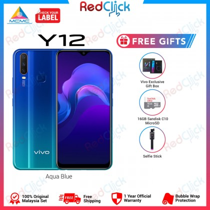 VIVO Y12 (3GB/32GB) Original VIVO Malaysia Set + 3 Free Gift Worth RM109