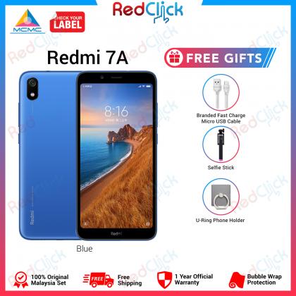 Xiaomi Redmi 7A (2GB/16GB/32GB) Original Xiaomi Malaysia Set + 3 Free Gift Worth RM49