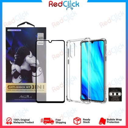 Atouchbo Huawei P30 3 In 1 Anti Shock Set (Nano Glass + Anti Shock Case + Camera Protection Film)