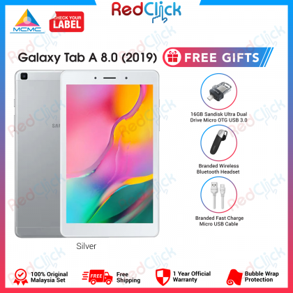 Samsung Galaxy Tab A 8.0 LTE /T295 (2GB/32GB) Original Samsung Malaysia Set + 3 Free Gift Worth RM99