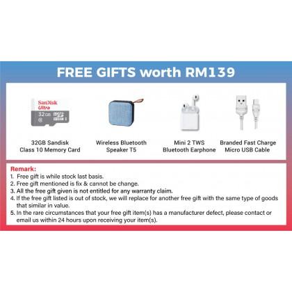 Samsung Galaxy Tab A 8.0 LTE /T295 (2GB/32GB) Original Samsung Malaysia Set + 4 Free Gift Worth RM139