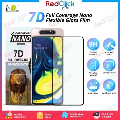 iTOP Samsung Galaxy A80 7D Full Coverage Screen Protector Nano Flexible Glass Film - Shock Proof