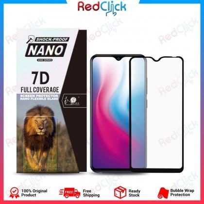 iTOP VIVO Y91 7D Full Coverage Screen Protector Nano Flexible Glass Film - Shock Proof