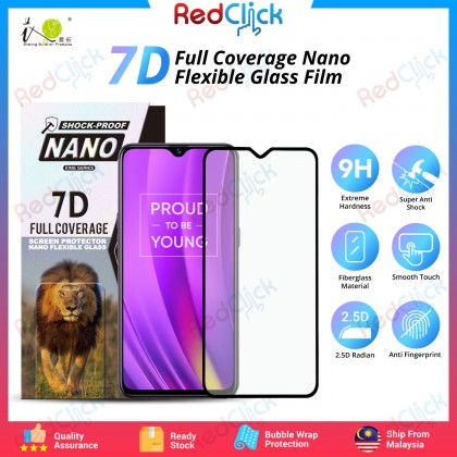 iTOP Realme 3 Pro 7D Full Coverage Screen Protector Nano Flexible Glass Film - Shock Proof