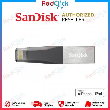 Sandisk Original iXpand Mini 16GB /32GB /64GB /128GB /256GB Lightning USB 3.0 Flash Drive