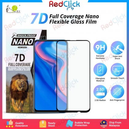 iTOP Huawei Y9 Prime 7D Full Coverage Screen Protector Nano Flexible Glass Film - Shock Proof