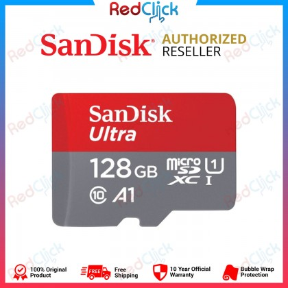 Sandisk Original Ultra 98MB/S - 120MB/S 16GB /32GB /64GB /128GB /200GB /256GB /400GB Full HD A1 Class 10 MicroSDXC UHS-I Card