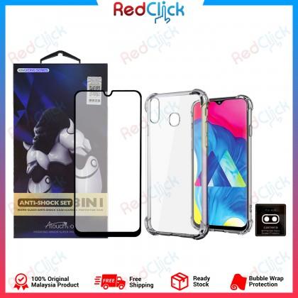 Atouchbo Samsung Galaxy A30 3 In 1 Anti Shock Set (Nano Glass + Anti Shock Case + Camera Protection Film)