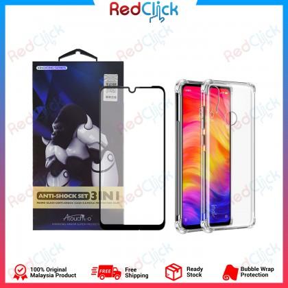 Atouchbo Xiaomi Redmi Note 7 2 In 1 Anti Shock Set (Nano Glass + Anti Shock Case)