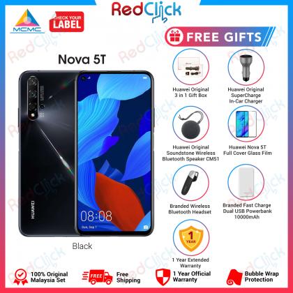 Huawei Nova 5T (8GB/128GB) Original Huawei Malaysia Set + 6 Free Gift Worth RM649