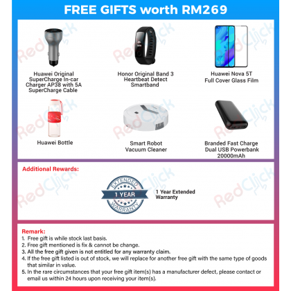 Huawei Nova 5T (8GB/128GB) Original Huawei Malaysia Set + 6 Free Gift Worth RM269