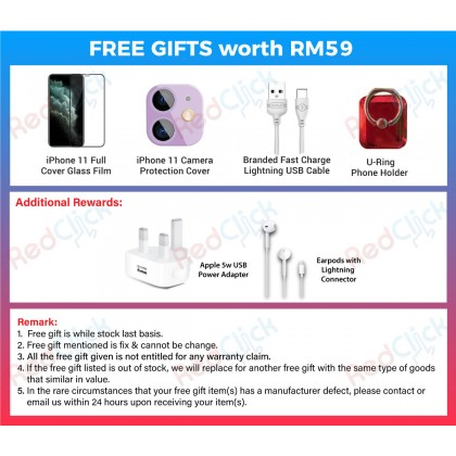 Apple iPhone 11 (64GB/128GB/256GB) Original Apple Malaysia Set + 4 Free Gift Worth RM59