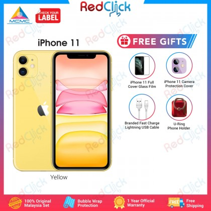 Apple iPhone 11 (64GB/128GB/256GB) Original Apple Malaysia Set + 4 Free Gift Worth RM59