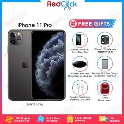 Apple iPhone 11 Pro (64GB/256GB/512GB) Original Apple Malaysia Set + 6 Free Gift Worth RM199