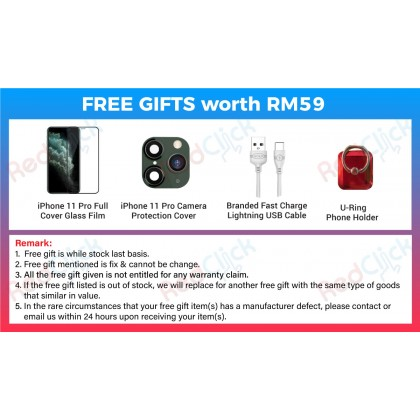 Apple iPhone 11 Pro (64GB/256GB/512GB) Original Apple Malaysia Set + 4 Free Gift Worth RM59