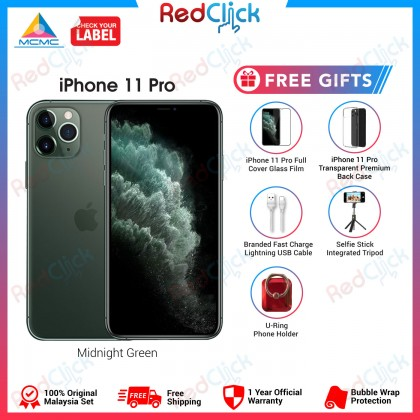 Apple iPhone 11 Pro (64GB/256GB/512GB) Original Apple Malaysia Set + 5 Free Gift Worth RM349