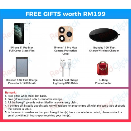 Apple iPhone 11 Pro Max (64GB/256GB/512GB) Original Apple Malaysia Set + 6 Free Gift Worth RM199