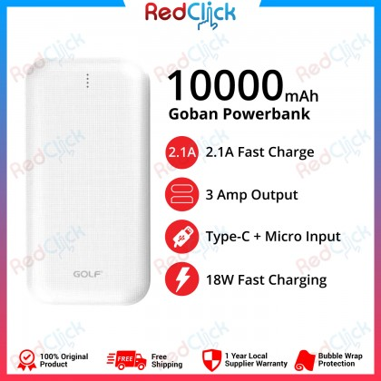 Golf Original G53 PD+QC 10000 mAh Fast Charge 18W Powerbank