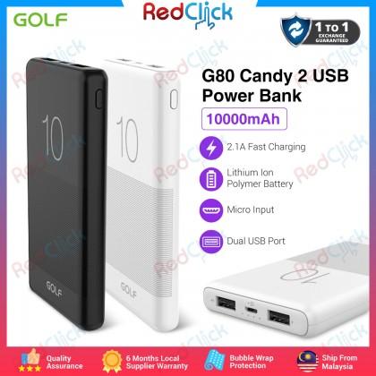 Golf Original G80 10000mAh Candy 2 USB Fast Charge Powerbank
